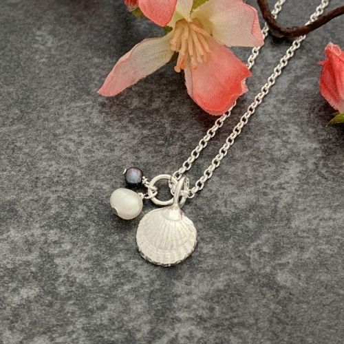 Silver shell pendant by Laura Llewellyn Design