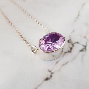 Lilac cz gemstone pendant