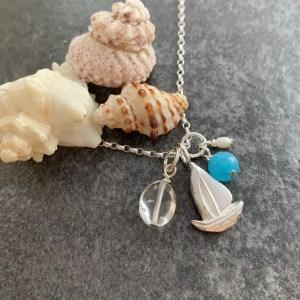 Silver sailboat pendant