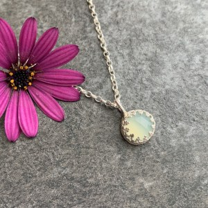 Chalcedony gemstone pendant