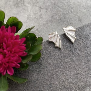 Silver Dragon wing earrings