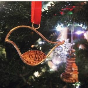 Silver robin decoration