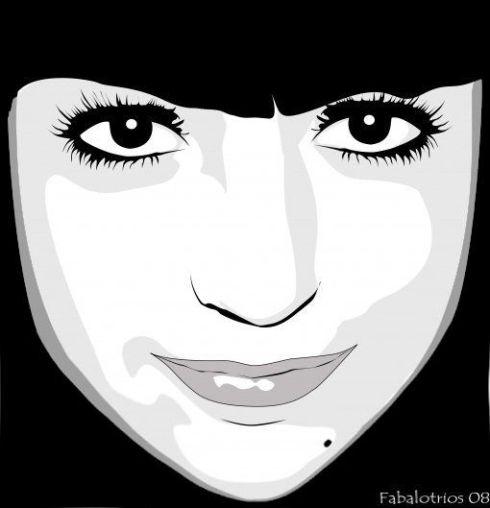 Yo misma en blanco y negro. Vectorial