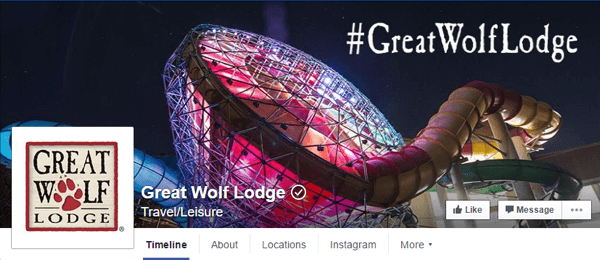Ejemplo Great-wolf-lodge Facebook