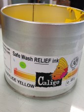 The ink. We used water-based ink, but oil based is also an option, and it can give a richer effect to the prints.