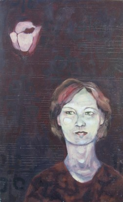 Linda, Oil on Board, 2001