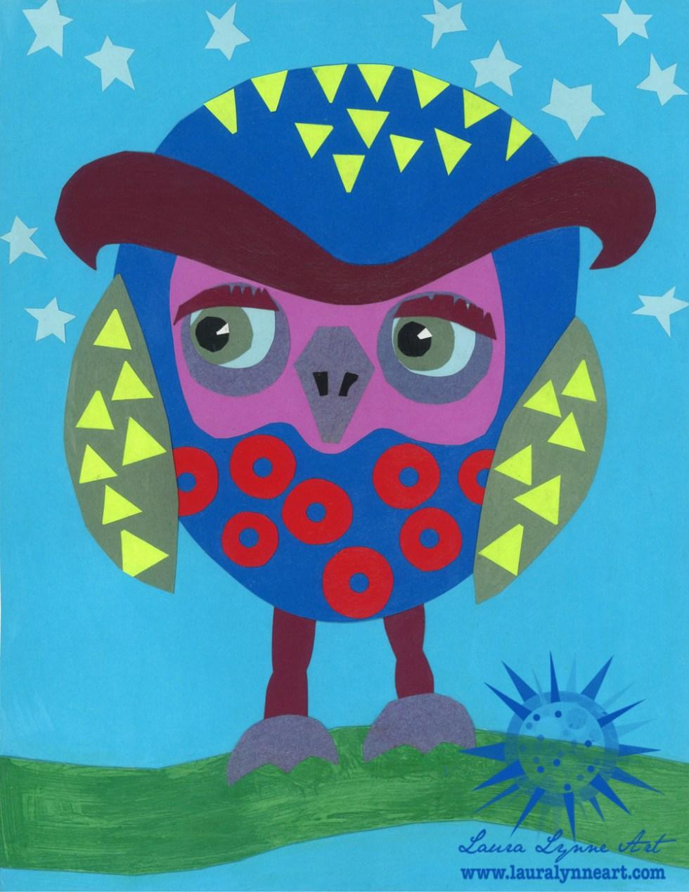 phish nursery art for boy owl room