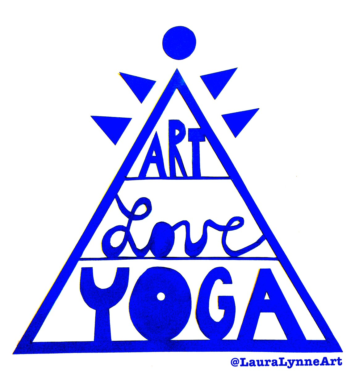 Yoga and Love help to make room for great creativity. T-shirt design and philosophy