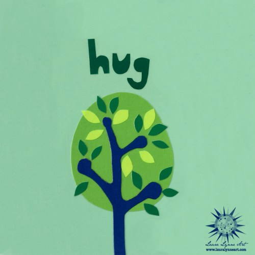 fine art print gift idea for tree huggers based on mixed media art by Laura Lynne
