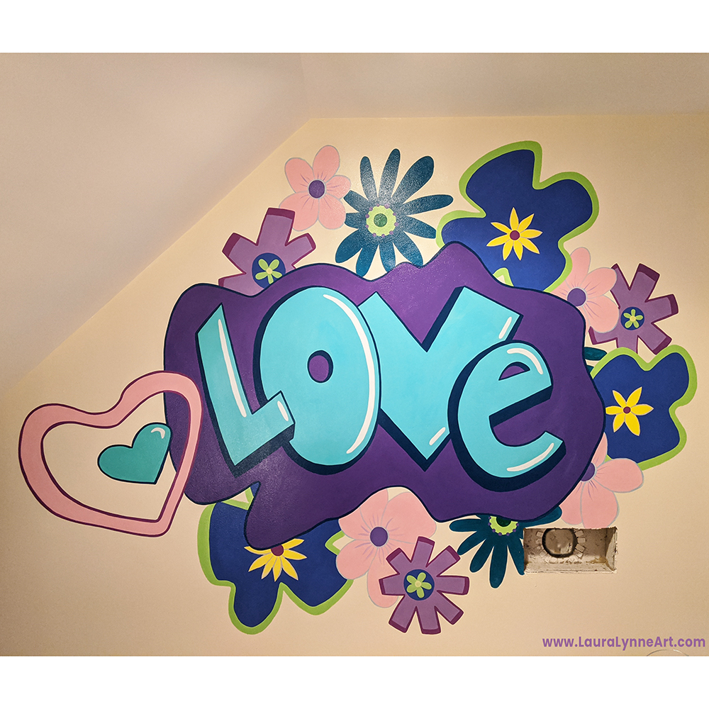 """""""Love"""" Graffiti Mural, Naperville, IL"""
