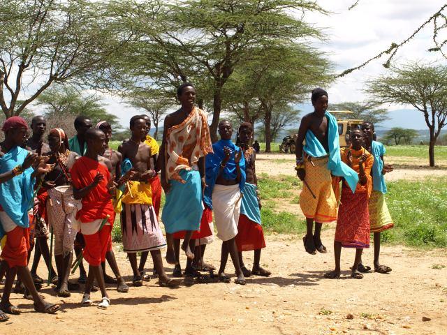 The Samburu Tribe showing their Jumps