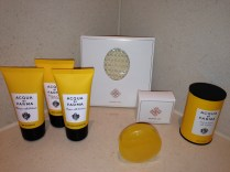 Love Acqua de Parma bath amenities