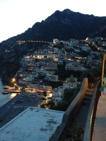 The lights of Positano at night.