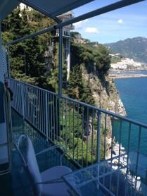 Views from a balcony at the Santa Catherina