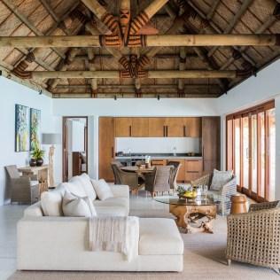 9. Three Bedroom Beachfront Villa - Living Room