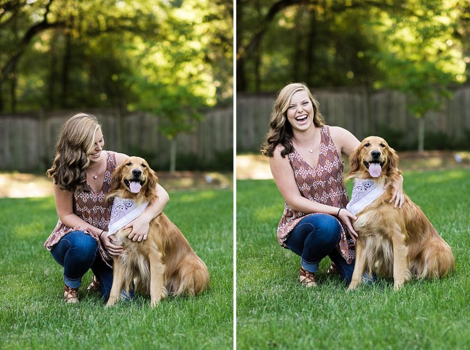 richmond, senior, dog, golden retriever, laura matthews, high school, ashland, walkerton