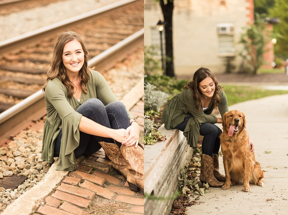 senior, laura matthews, photography, portraits, ashland, glen allen, dog, golden retriever, high school, richmond, virginia