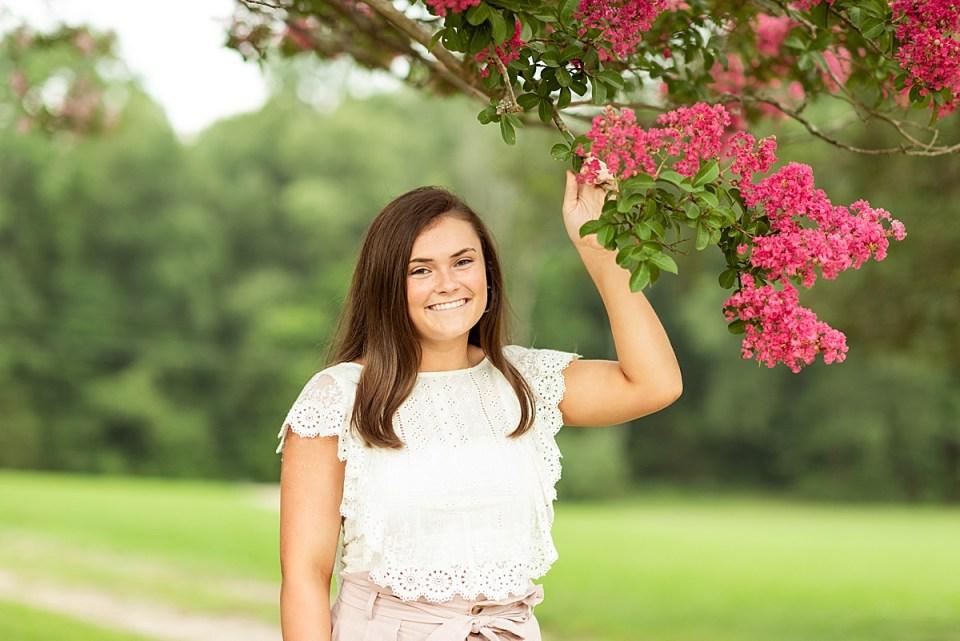 Rustic Glen Allen, Virginia senior portraits by Laura Matthews Photography.