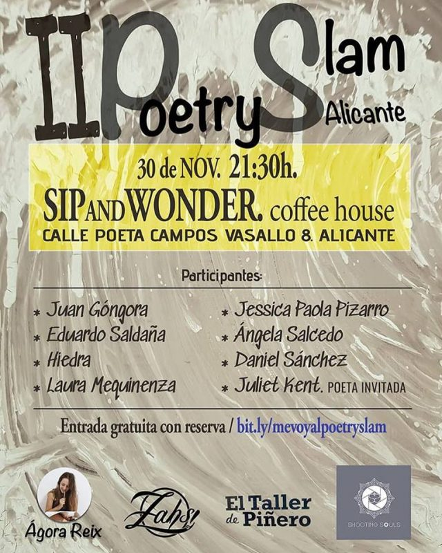 cartel poetry slam alicante nov 2018
