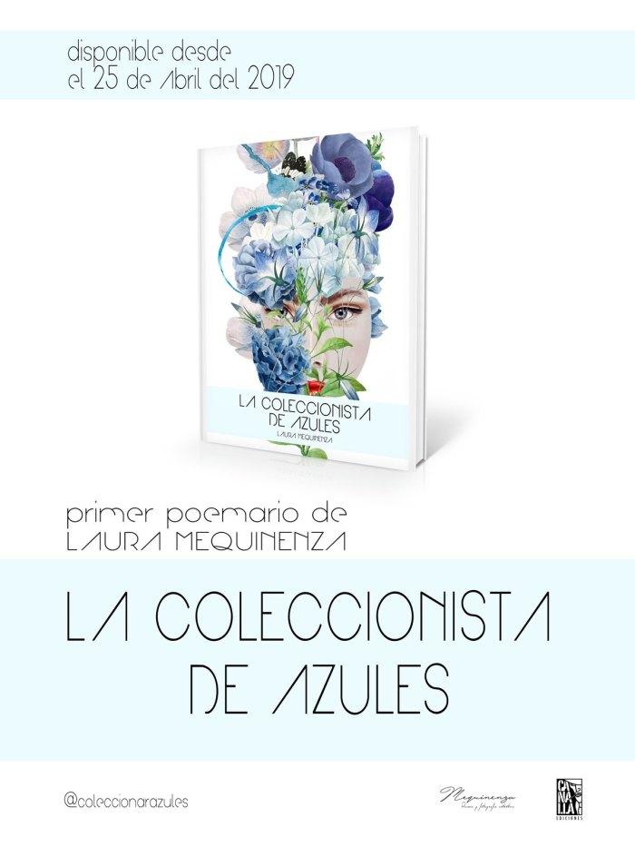 cartel libro la coleccionista de azules