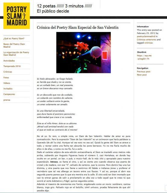cronica poetry slam especial san valentin