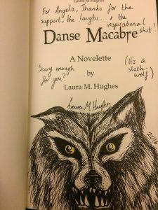 Danse Macabre doodle wolf