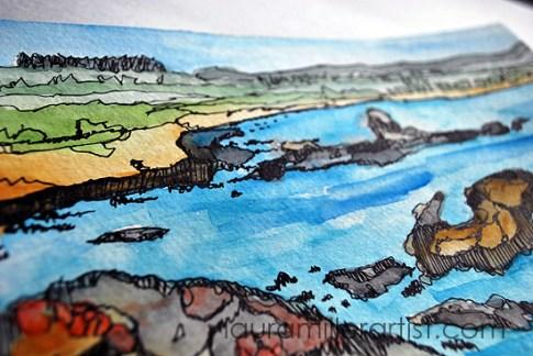 2seascape sketch laura miller artist