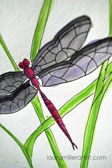 7dragonfly symbol laura miller artist