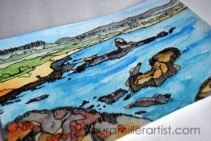 7seascape sketch laura miller artist