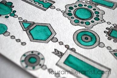 2turqoise jewelry sketch