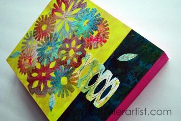 1wycinanki floral vase laura miller artist