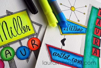 5neon sign illustration