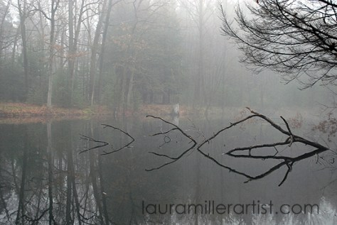 7misty morning reflections on the lake