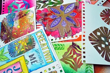 18art journal wycinanki laura miller artist