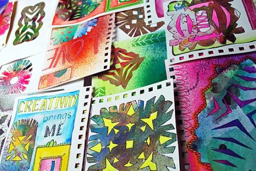 20art journal wycinanki laura miller artist
