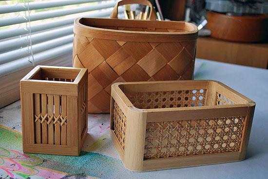 1tassel upcycled desk organizer baskets
