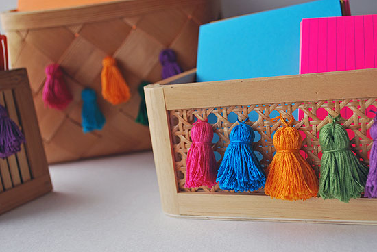 9tassel upcycled desk organizer baskets