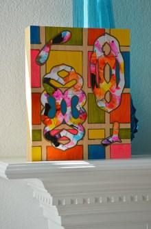 3festive mixed media papercuts