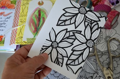 Cut your art journal up and use as journal cards.