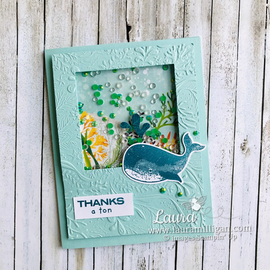 Whale of a Time Thanks a Ton Shaker Card by Laura Milligan