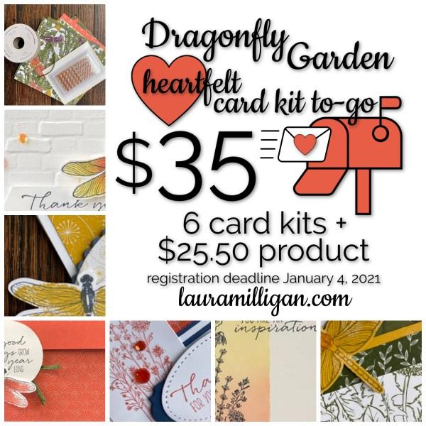 Dragonfly Garden Heartfelt Card Kit to Go - Laura Milligan