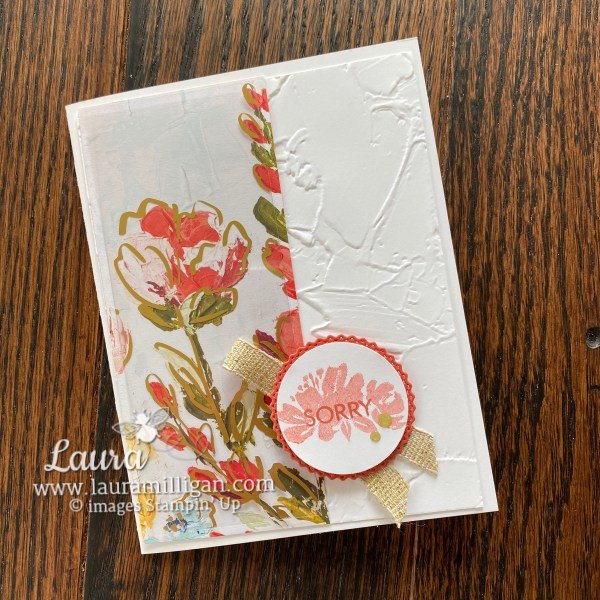 Fine Art Floral Sorry Card by Laura Milligan
