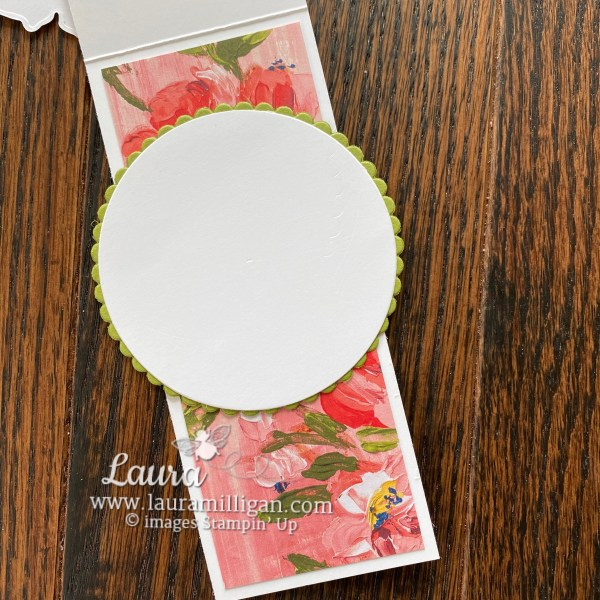 Fine Art Floral Suite Collection by Stampin' Up! Skinny Card by Laura Milligan