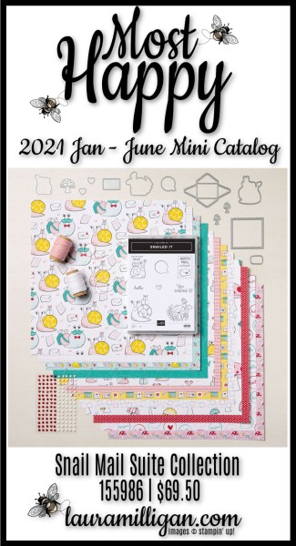 Most Happy Snail Mail Suite Collection from Stampin' Up! Laura Milligan