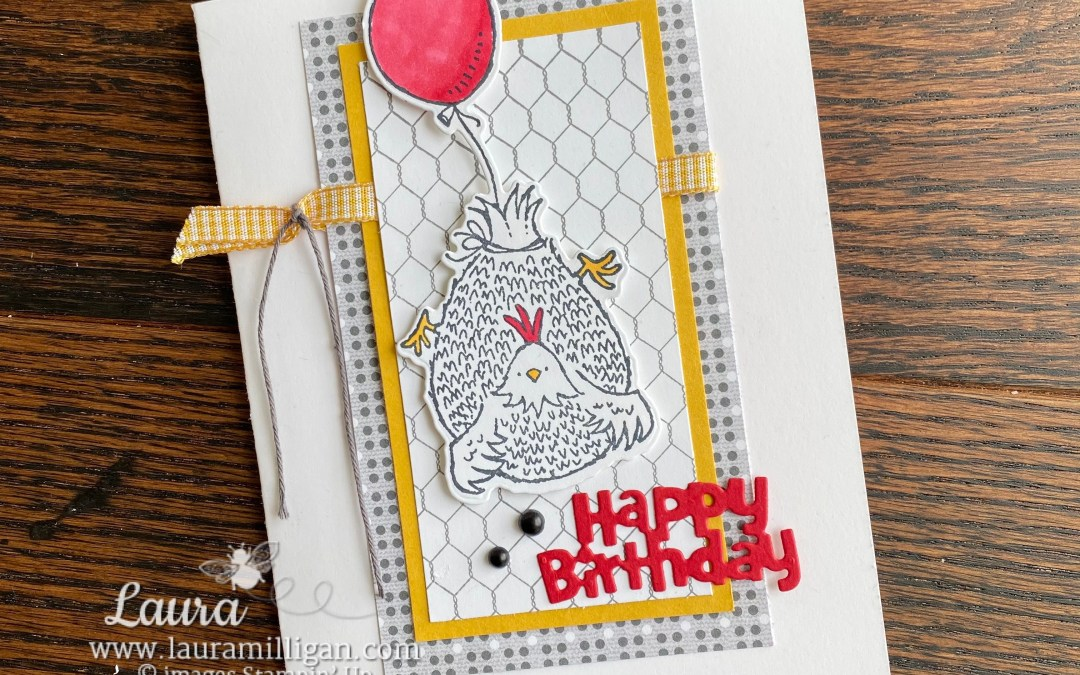 An Adorable Happy Birthday Chick B-Day Card