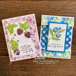 Berry Blessings Card Duo Laura Milligan Id Rather Bee Stampin