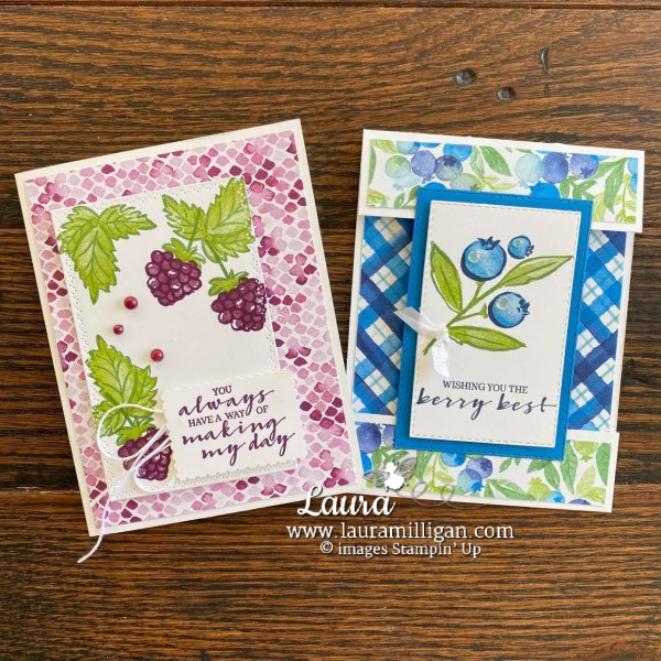 Berry Blessings Card Duo Laura Milligan Id Rather Bee Stampin' (1)