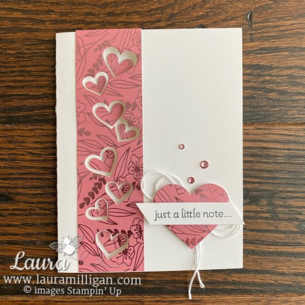 Create this fun card with the Lots of Hearts Bundle from Stampin' Up! and Laura Milligan, I'd Rather Bee Stampin', Earn Free Product in my FreeBees program
