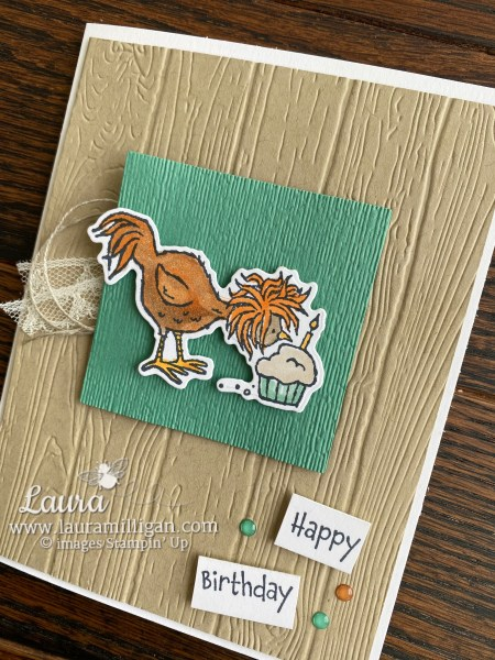 Hey Birthday Chick Bundle from Stampin' Up! Card by Laura Milligan I'd Rather Bee Stampin' Shop Online Earn Free Bees