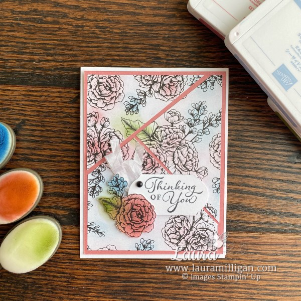 True Love Designer Series Paper from Stampin' Up! Card by Laura Milligan, I'd Ratehr Bee Stampin Card and Product
